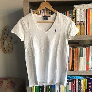 Ralph Lauren Sport White T-Shirt Size S